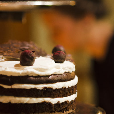 For Joana and Andi. A new take on the classic Black Forest Cake.