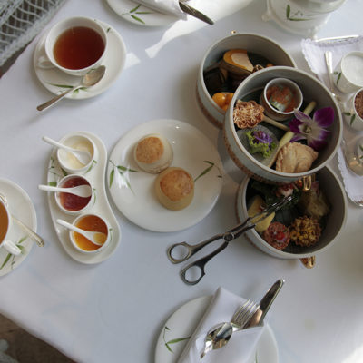 Cream Tea, in the Tea Rooms - Thai style! There was even clotted cream, yeah!