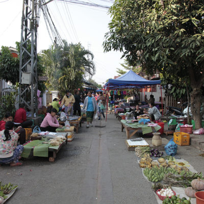 So off we went to the daily morning market in Luang Prabang with Jon.