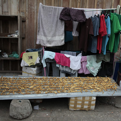 Drying clothes, drying mushrooms.
