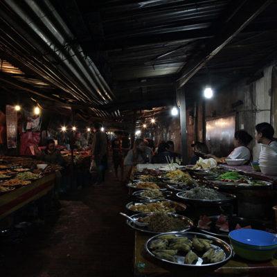 The night market - food heaven.