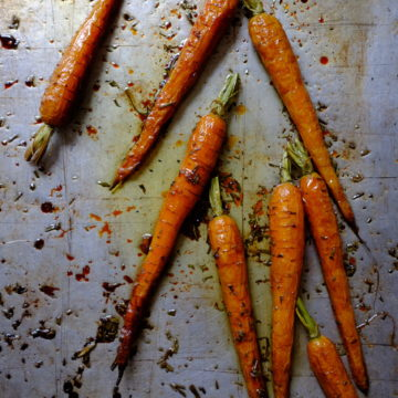 Roasted Carrots with Honey and Rosemary