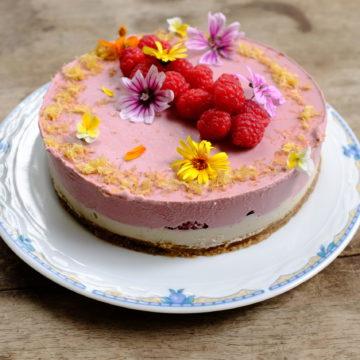 Raspberry and Cashew Raw Cake