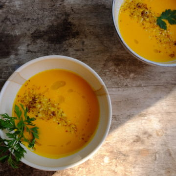 Carrot, Lemon and Coconut Soup