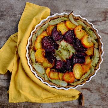 Roasted Beetroot and Fennel Tart