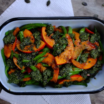 Coriander and Dill Pesto with Baked Pumpkin