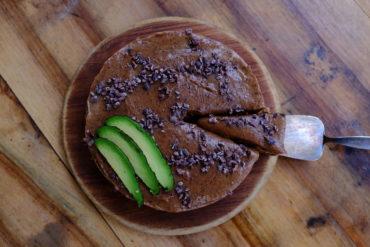 Dark Salted Avocado and Almond Tart